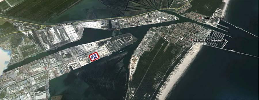 Mappa del porto di Ravenna